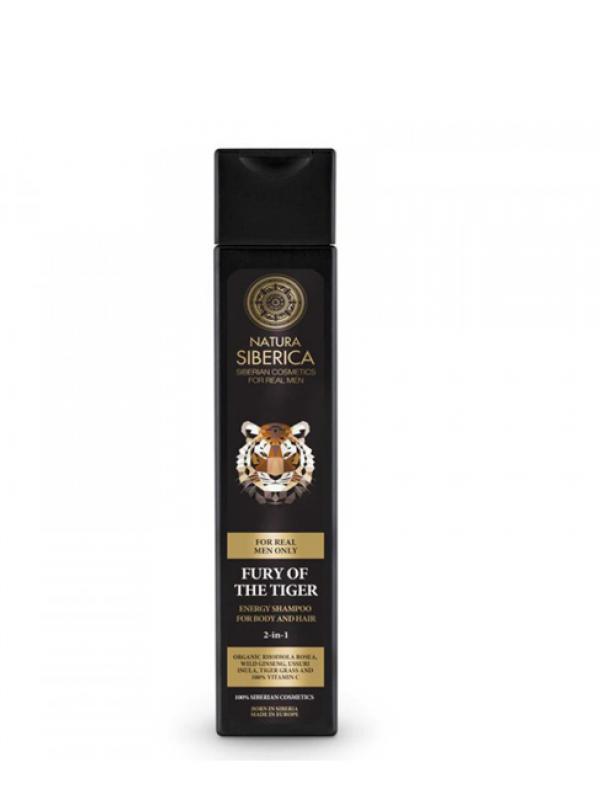 Natura Siberica Energizující šampon 2v1 Nezkrotnost tygra 250 ml
