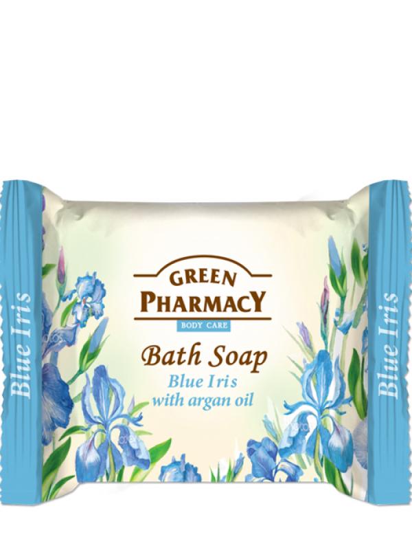 Green Pharmacy Krémové mydlo Modrý iris s arganovým olejom 100g