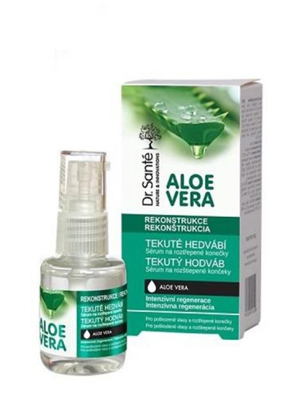 Dr. Santé Aloe Vera tekutý hodváb pre poškodené vlasy a rozštiepené končeky 30 ml