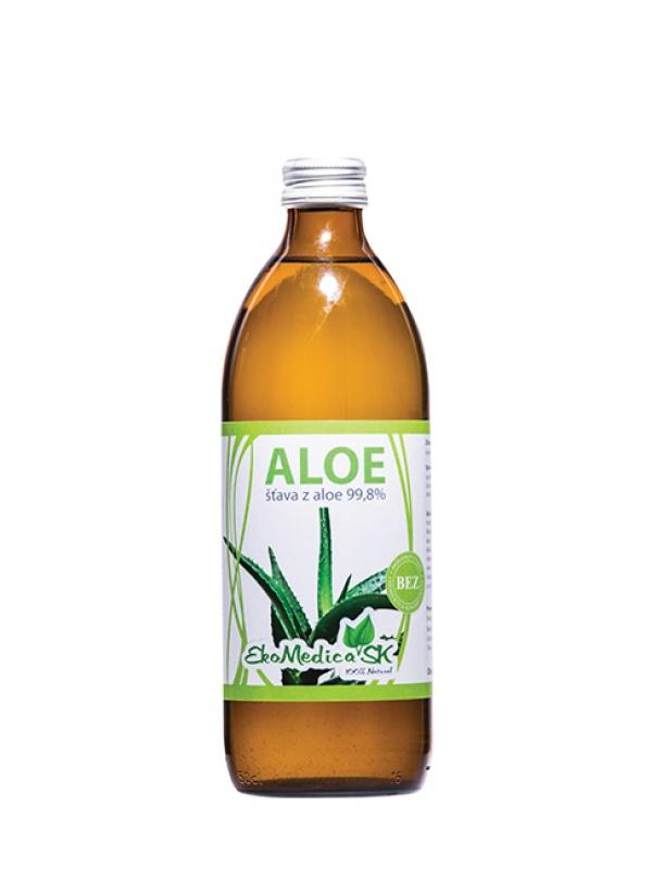EKOMEDICA Šťava z Aloe 99.8% 500ml