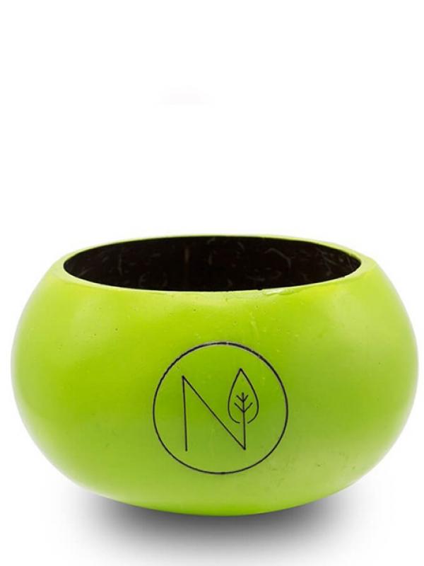 Kokosová miska zelená NATU