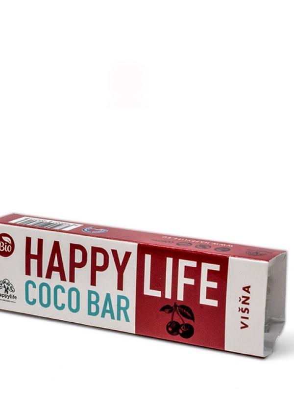 COCO BAR – Kokosová tyčinka s višňami BIO HAPPY LIFE 40g