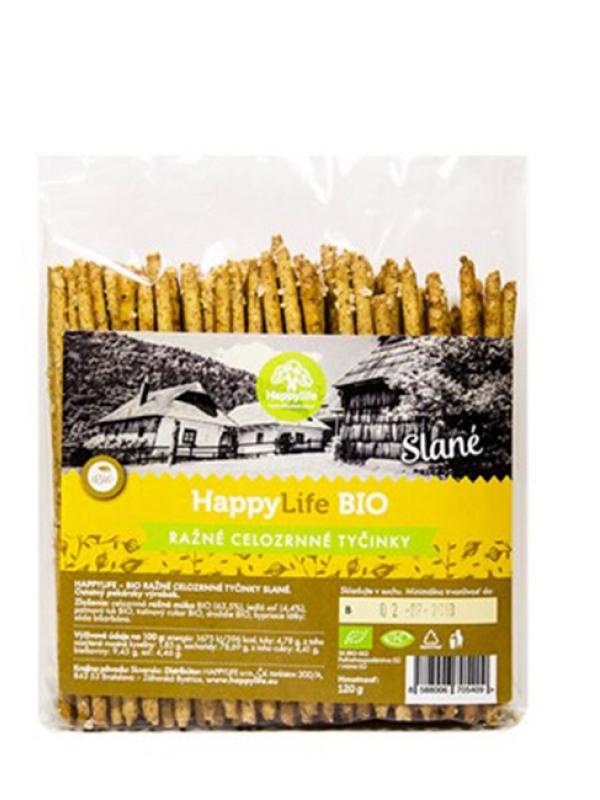 Tyčinky ražné celozrnné- slané BIO HAPPY LIFE 120g