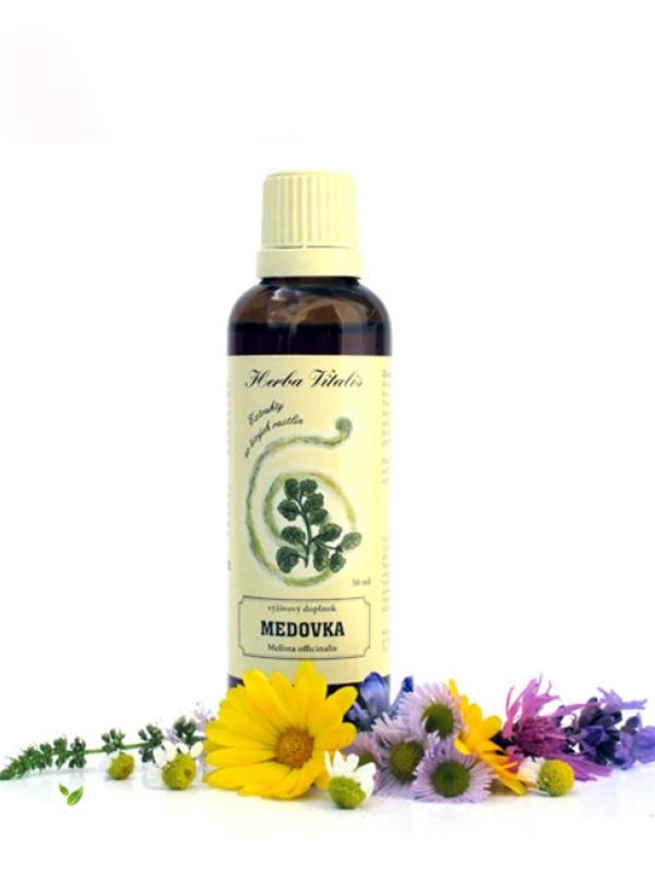 Tinktúra z byliny medovka lekárska HERBA VITALIS 50ml