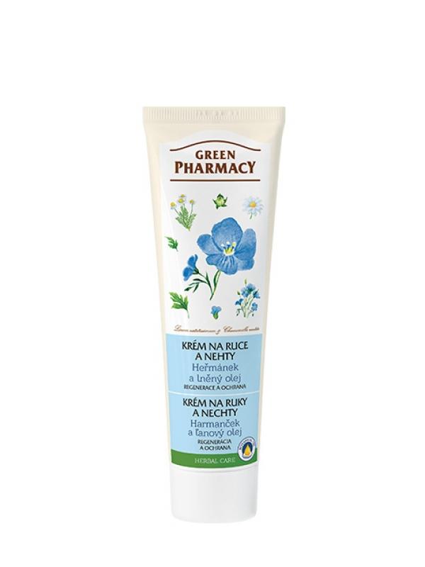 Krém na ruky a nechty - harmanček a ľanový olej Green Pharmacy 100 ml