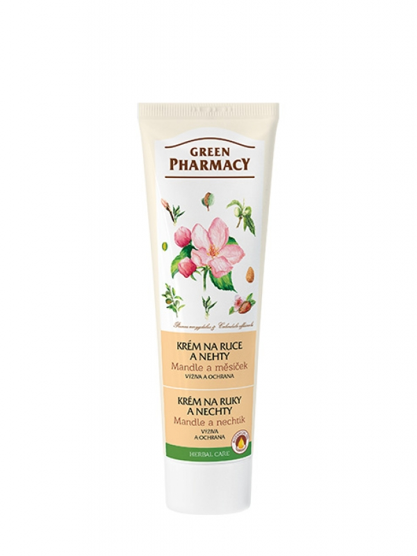 Krém na ruky a nechty - mandle a nechtík Green Pharmacy 100 ml