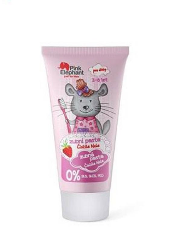 """Zubná pasta pre dievčatá """"Činčila Nela"""" Pink Elephant 50 ml"""