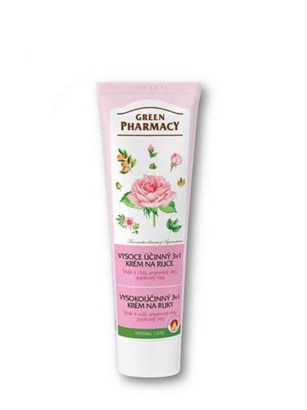 Vysokoúčinný krém na ruky a nechty 3v1 Green Pharmacy 100 ml
