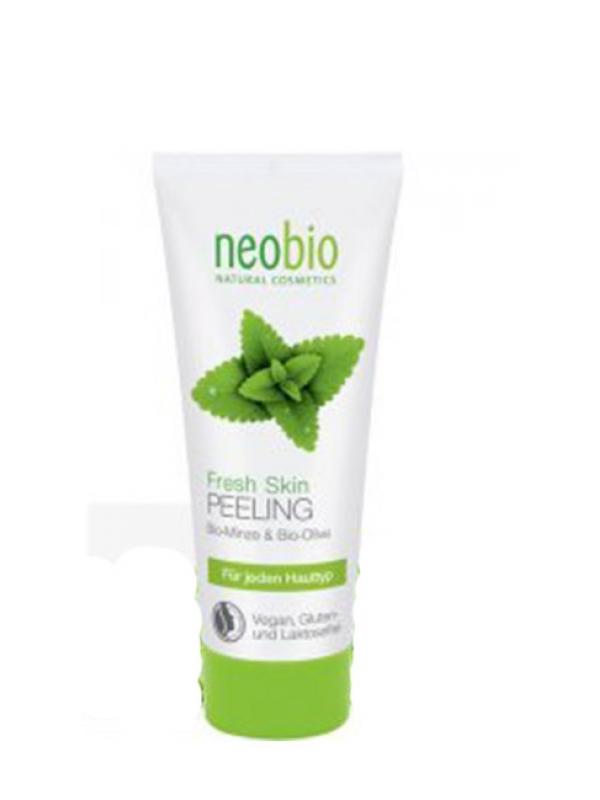 Pleťový peeling Fresh - mäta a aloe vera NEOBIO 100 ml