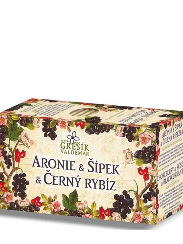 Čaj arónia,šipka a čierna ríbezľa GREŠÍK 40 g