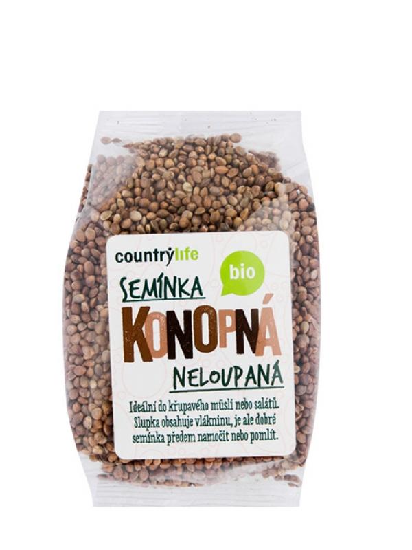 Konopné semienka nelúpané BIO COUNTRY LIFE 250 g