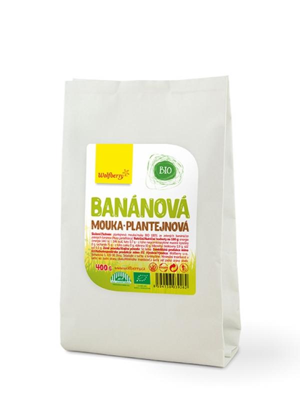 Banánová plantejnová múka BIO Wolfberry 400 g