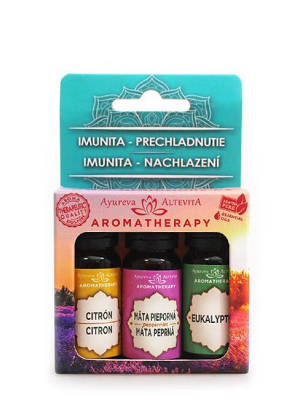 Set olejov - Imunita a prechladnutie ALTEVITA 3x10 ml