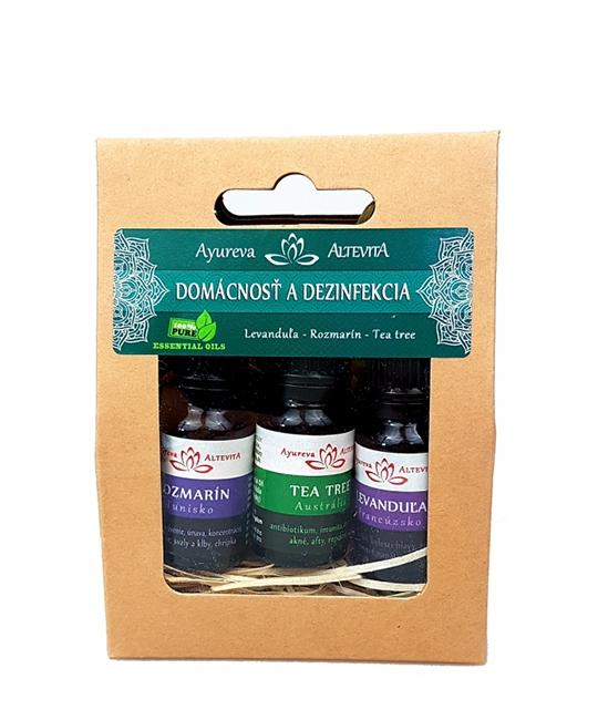 Set olejov - Domácnosť a dezinfekcia ALTEVITA 3x10 ml