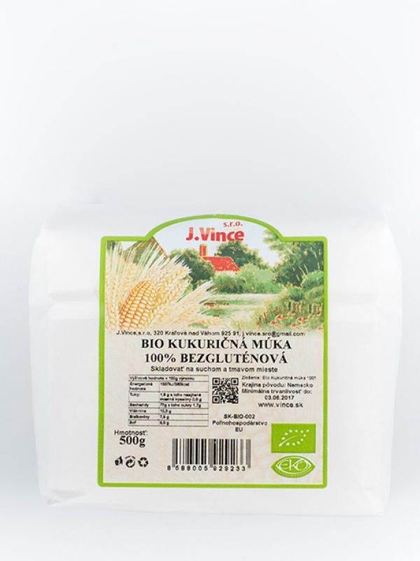 Bio kukuričná múka 100% bezgluténová VINCE 500 g