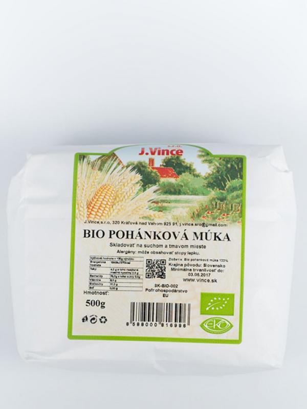 Bio pohánková múka VINCE 500 g