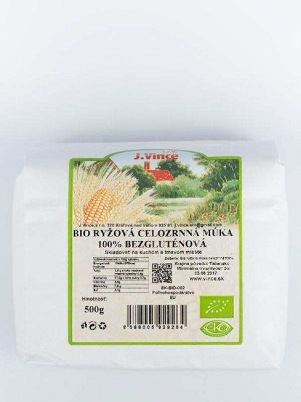 Bio ryžová múka celozrnná 100% bezgluténová VINCE 500 g