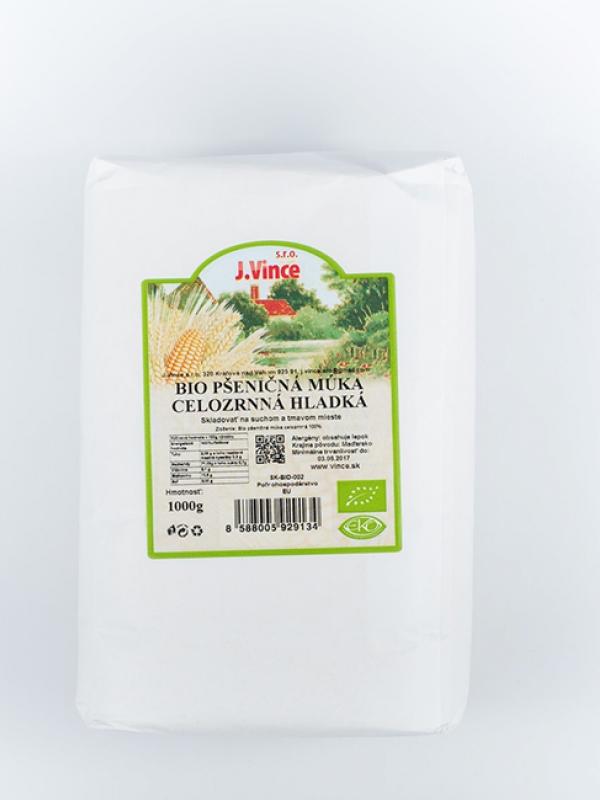 Bio pšeničná múka celozrnná hladká VINCE 1 Kg