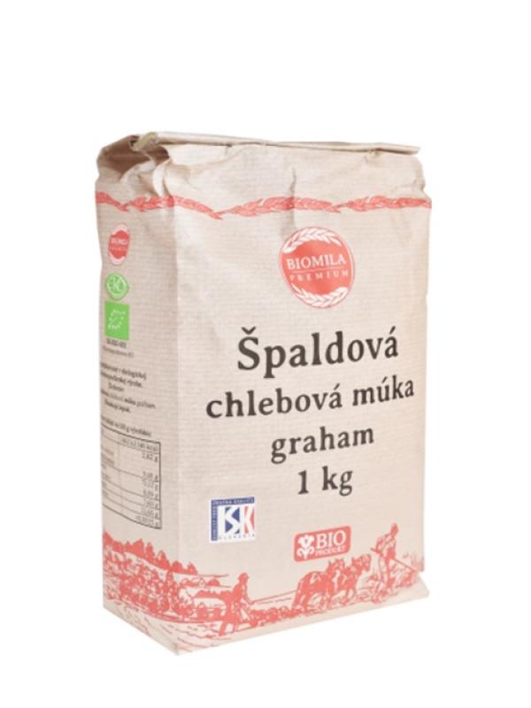 Špaldová chlebová múka graham BIO BIOMILA 1 kg