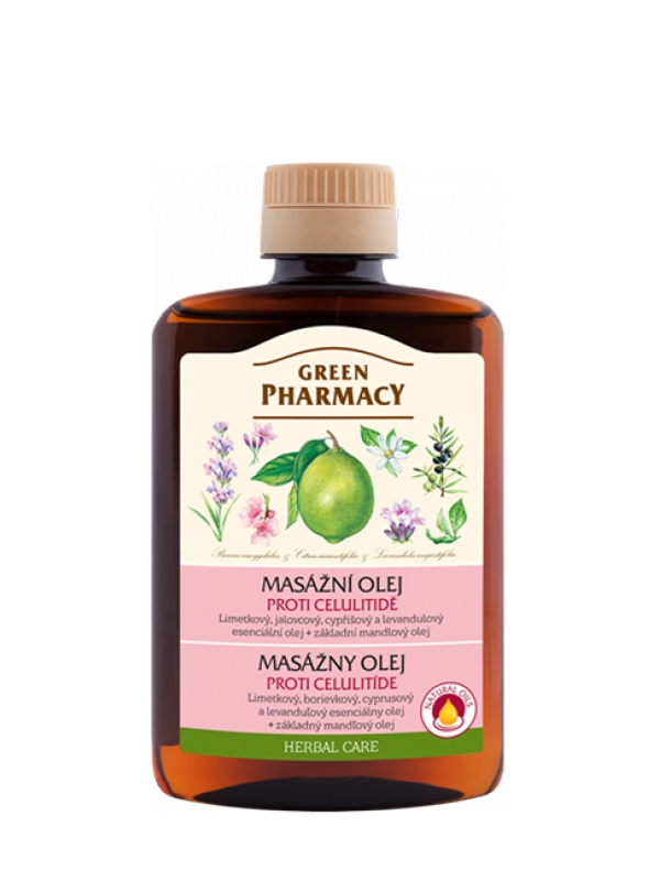 Green Pharmacy masážny olej 200 ml - Proti celulitíde
