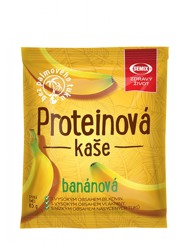 Proteinová kaša banánová SEMIX 65 g