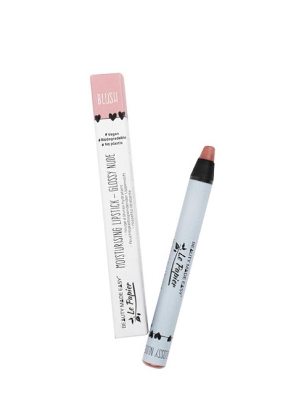 Prírodný rúž na pery lesklý Le Papier - Blush 6 g