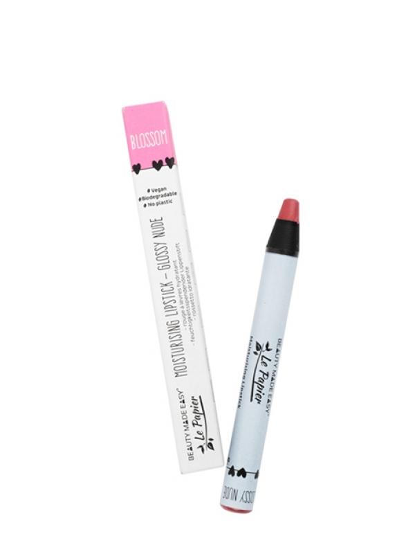 Prírodný rúž na pery lesklý Le Papier - Blossom 6 g