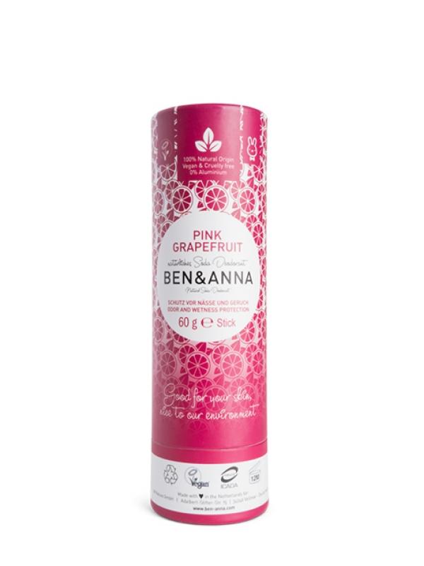 Prírodný deodorant BEN&ANNA - Ružový grapefruit 60 g