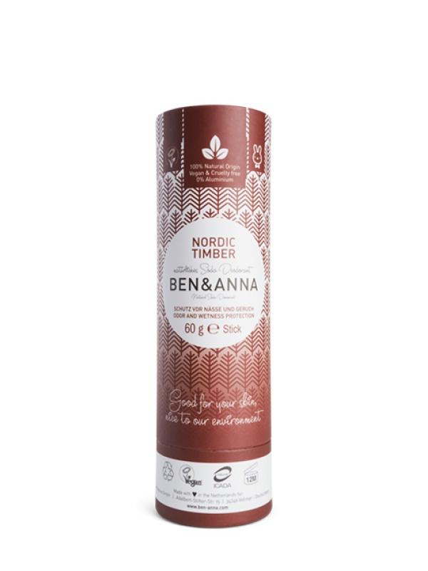 Prírodný deodorant BEN&ANNA - Severská drevina 60 g