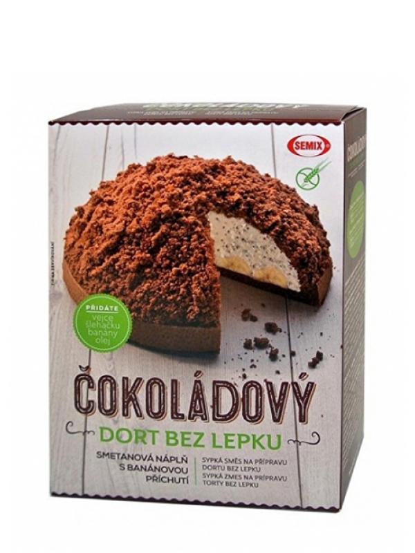 Čokoládový dezert bez lepku + náplň SEMIX 430 g
