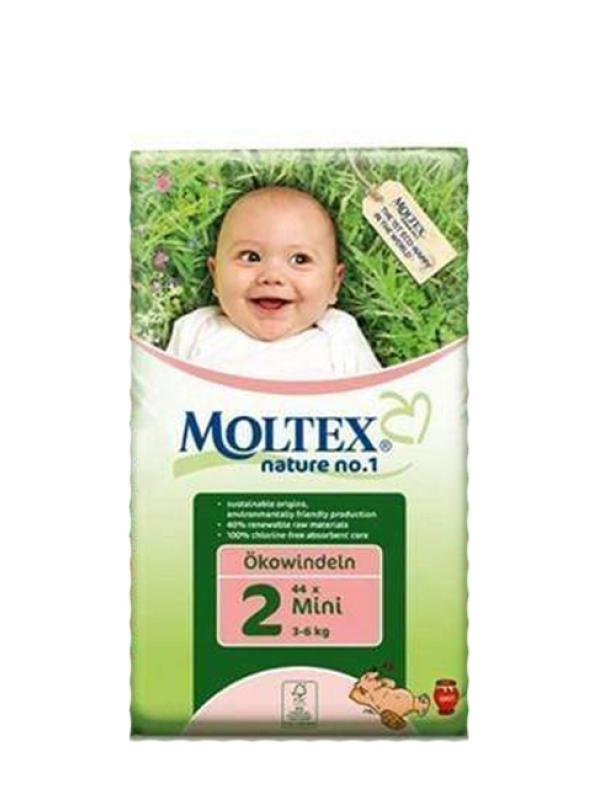 Detské prírodné plienky veľkosť 2 Moltex 42 ks