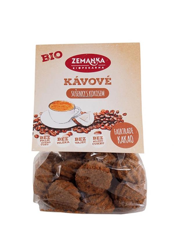 Kávové sušienky s kokosom BIO Zemanka 100 g