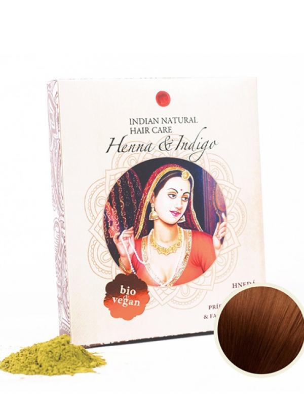 Henna & Indigo - hnedá farba na vlasy Indian Natural 200 g