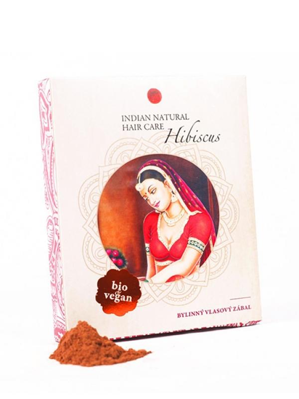 Hibiscus - bylinný vlasový zábal Indian Natural 200 g