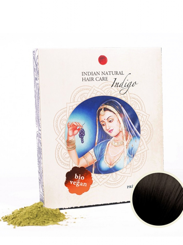 Indigo - čierna farba na vlasy Indian Natural 200 g
