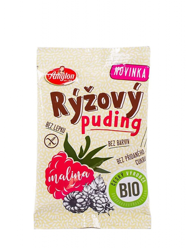 Ryžový puding bez lepku - malinový AMYLON 40 g