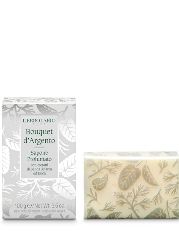 Bouquet d´ Argento tuhé mydlo L Erbolario 100 g
