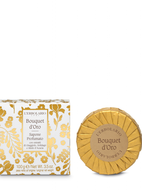 Bouquet d´ Oro tuhé mydlo L Erbolario 100 g