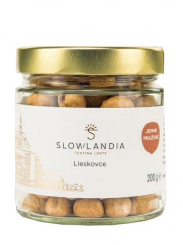 Lieskovce výberové jemne pražené SLOWLANDIA 200 g