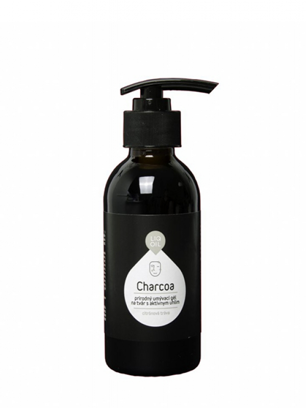 Charcoa - umývací gél na tvár s aktívnym uhlím LIQOIL 150 ml