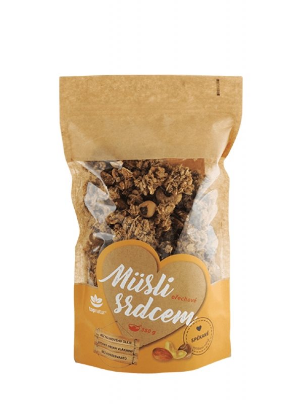 Müsli srdcom - orechové TOPNATUR 350 g
