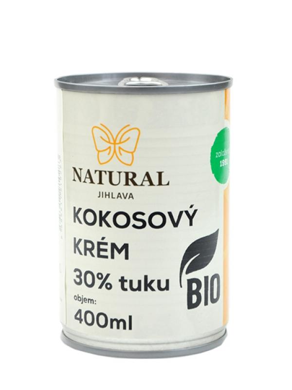 Kokosový krém BIO 30% tuku NATURAL JIHLAVA 400 ml