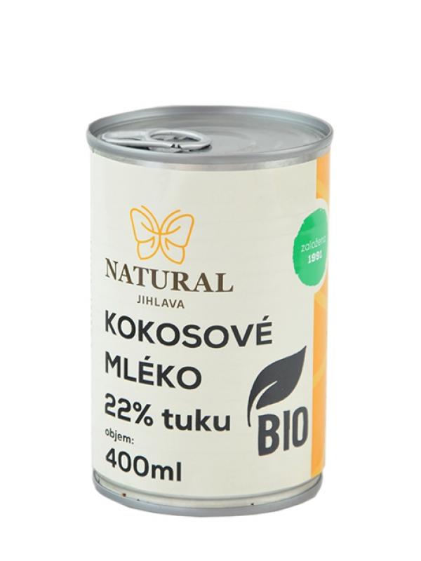 Kokosové mlieko BIO 22% tuku NATURAL JIHLAVA 400 ml