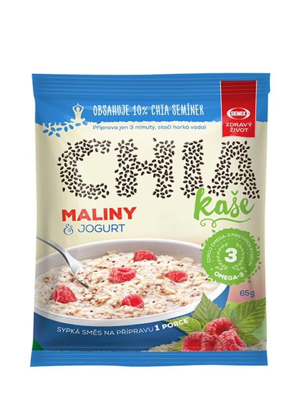 Chia kaša malinová s jogurtom SEMIX 65 g