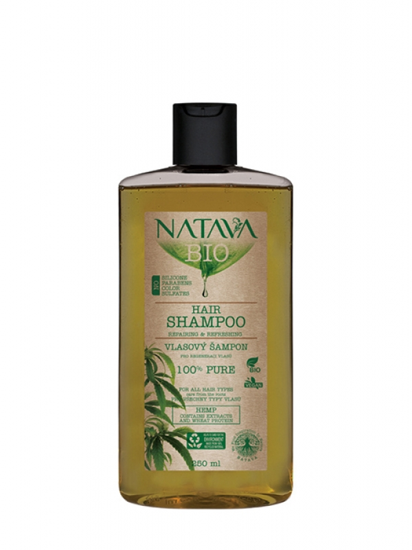 Konopný šampón - regenerácia vlasov NATAVA 250 ml