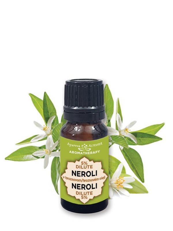 5% esenciálny olej - neroli v hroznovom oleji ALTEVITA 10 ml